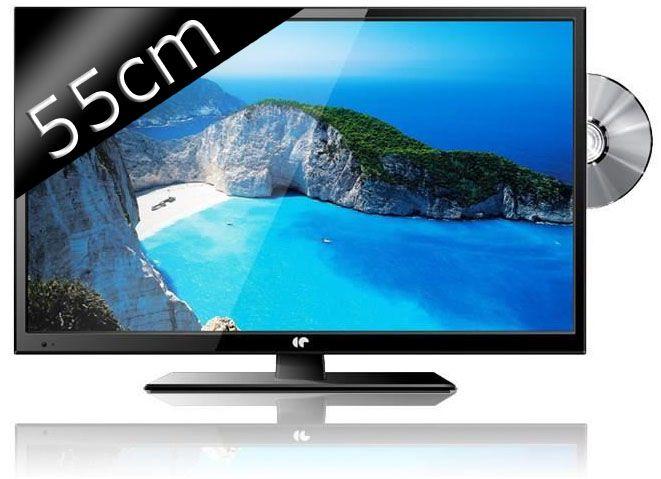 continental edison tv led full hd combo dvd 55cm 22 achat vente t l viseur led. Black Bedroom Furniture Sets. Home Design Ideas