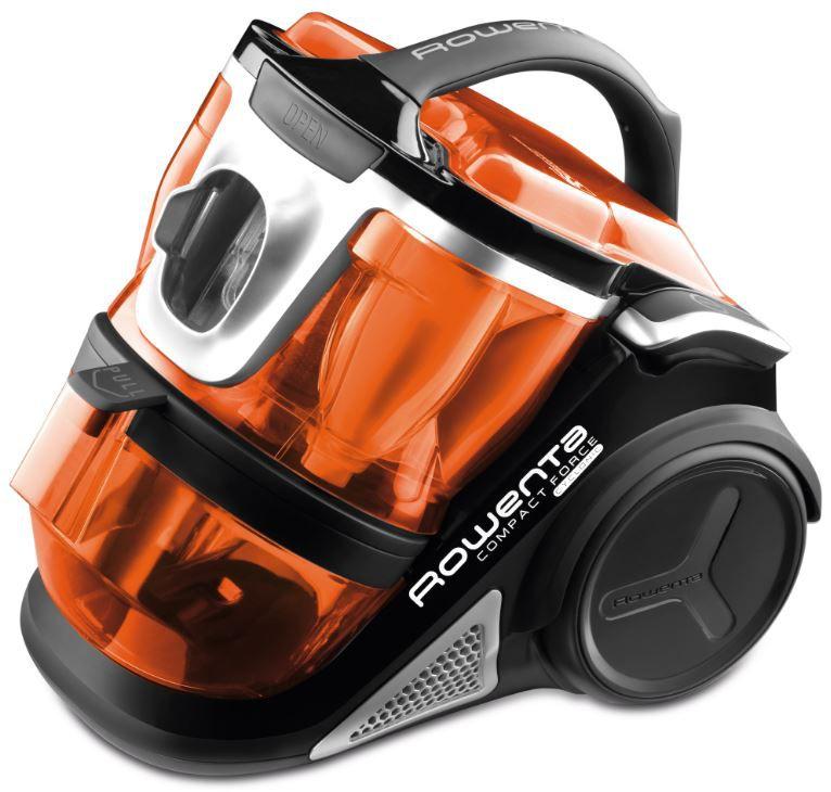 aspirateur rowenta ro7834 compact force cyclonic noir. Black Bedroom Furniture Sets. Home Design Ideas
