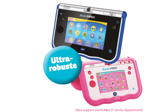 Vtech storio max 5 39 39 tablette enfant wifi bleu achat for Housse storio max 5