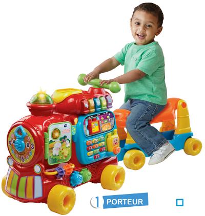 Vtech maxi trotti loco 5 en 1 rouge achat vente for Jouet exterieur 1 an