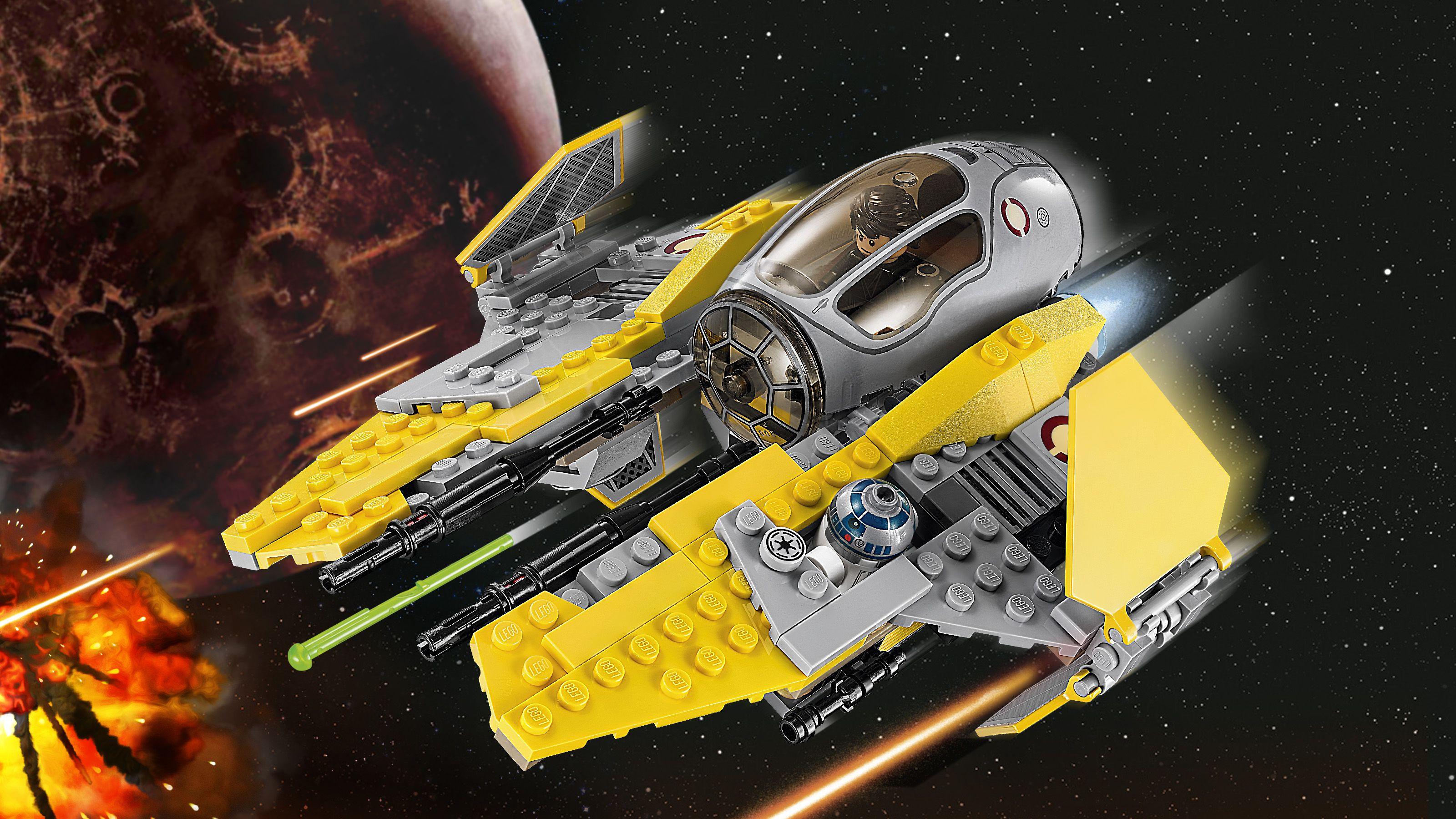 Lego star wars 75038 intercepteur jedi achat vente for Interieur vaisseau star wars