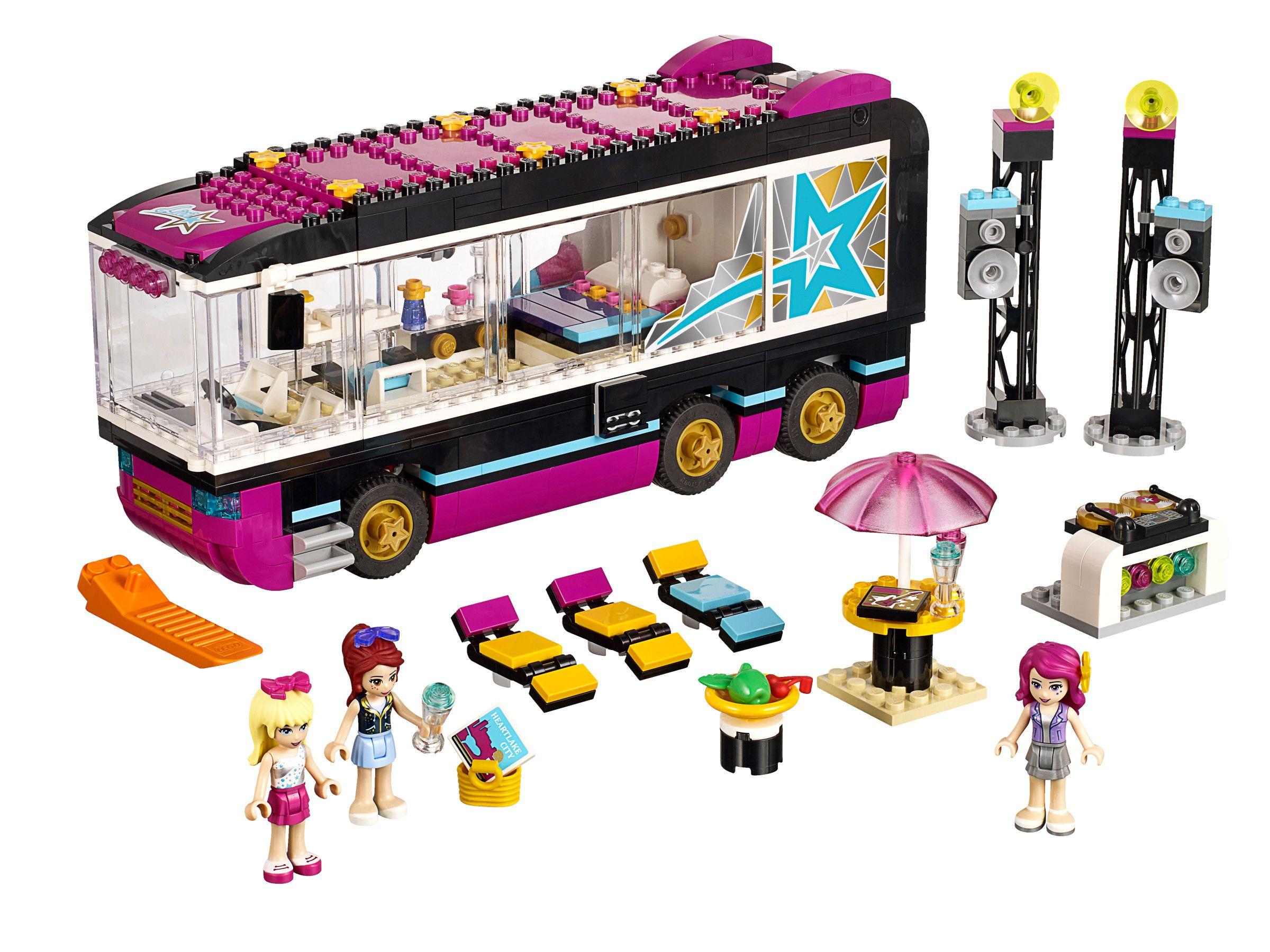 lego friends pop star 41106 la tourn e en bus achat vente assemblage construction cdiscount. Black Bedroom Furniture Sets. Home Design Ideas