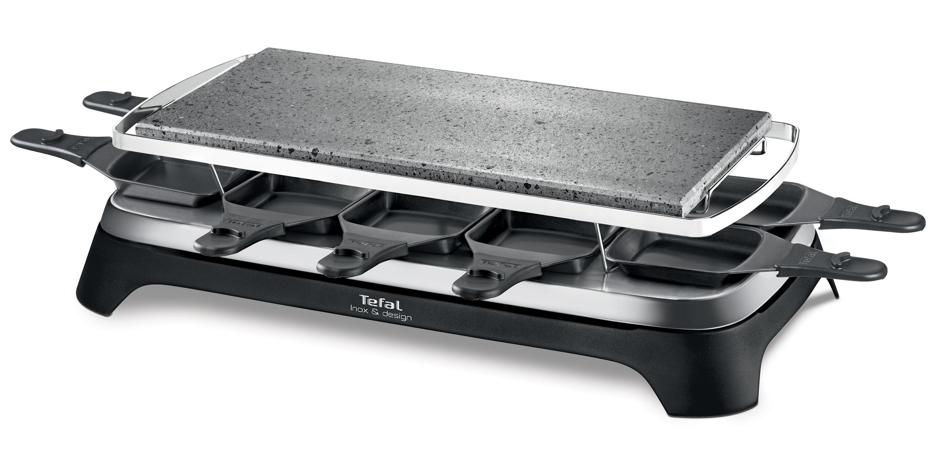 Tefal pierrade raclette inox design pr457812 for Appareil a cuire