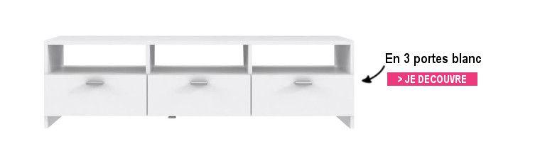Finlandek meuble tv helppo contemporain blanc l 95 cm for Avis client meubles concept