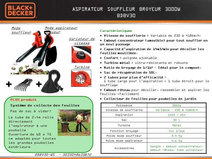 black decker aspirateur souffleur broyeur 3000w achat vente aspirateur souffleur. Black Bedroom Furniture Sets. Home Design Ideas
