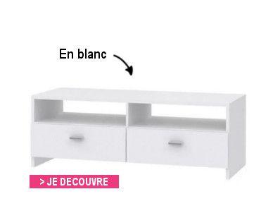 Finlandek meuble tv helppo 95cm blanc et gris achat for Meuble h 110