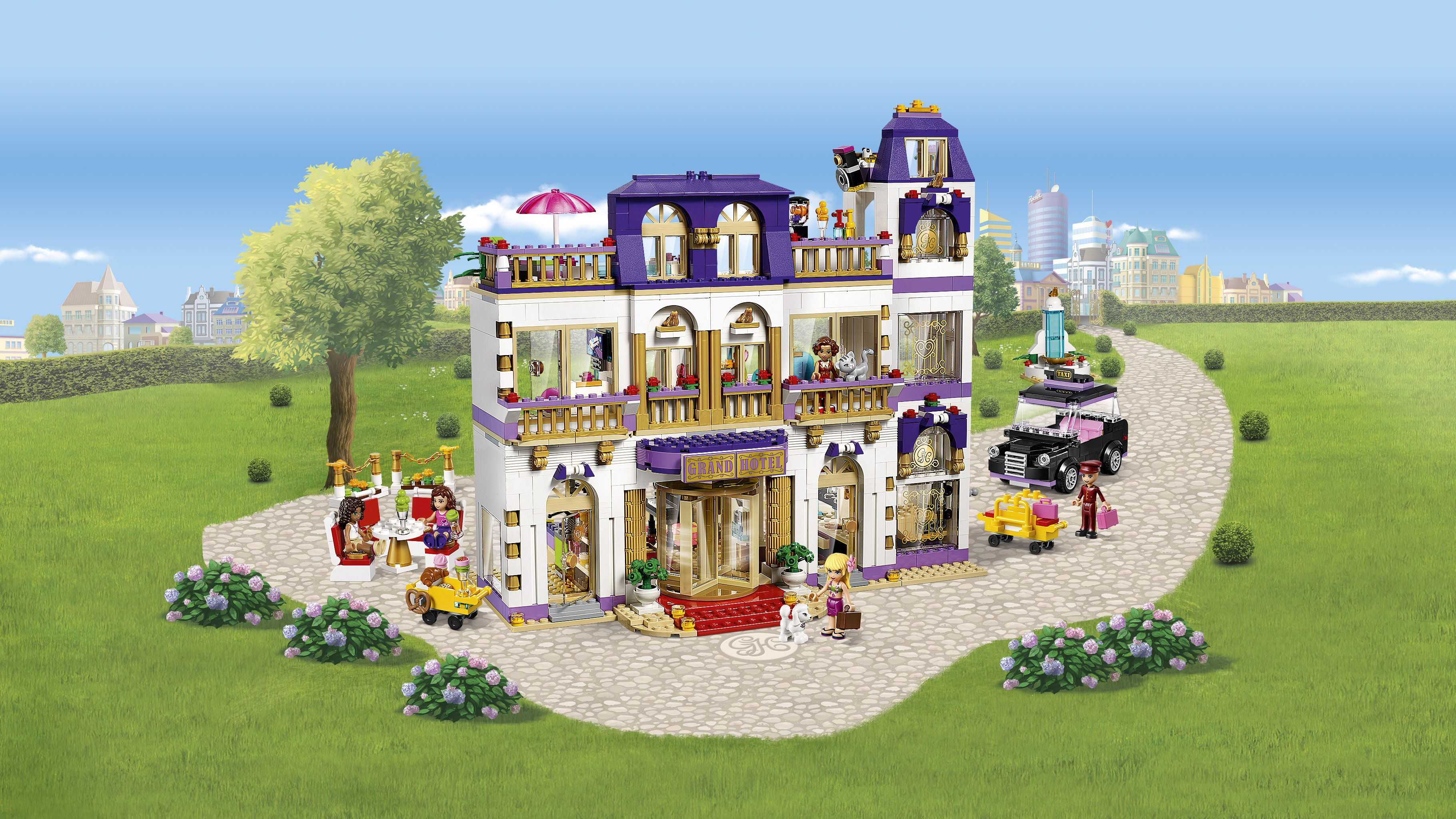 Destockage lego friends 41101 le grand h tel de heartlake for Hotel destockage