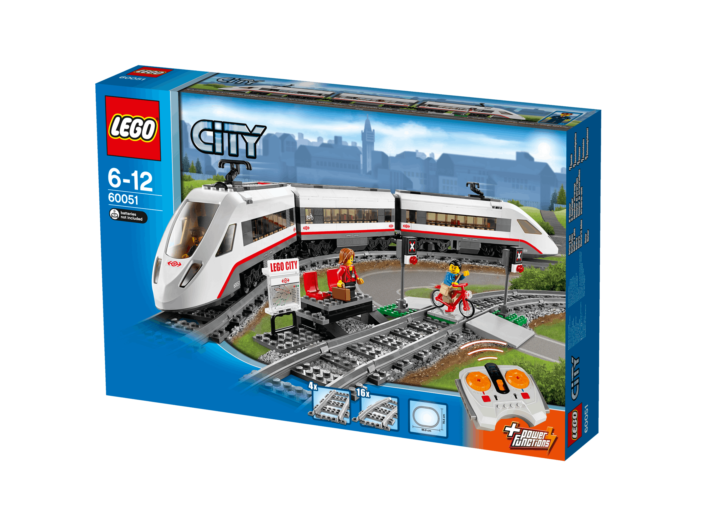 lego city 60051 train de passagers grande vitesse tgv achat vente assemblage construction. Black Bedroom Furniture Sets. Home Design Ideas