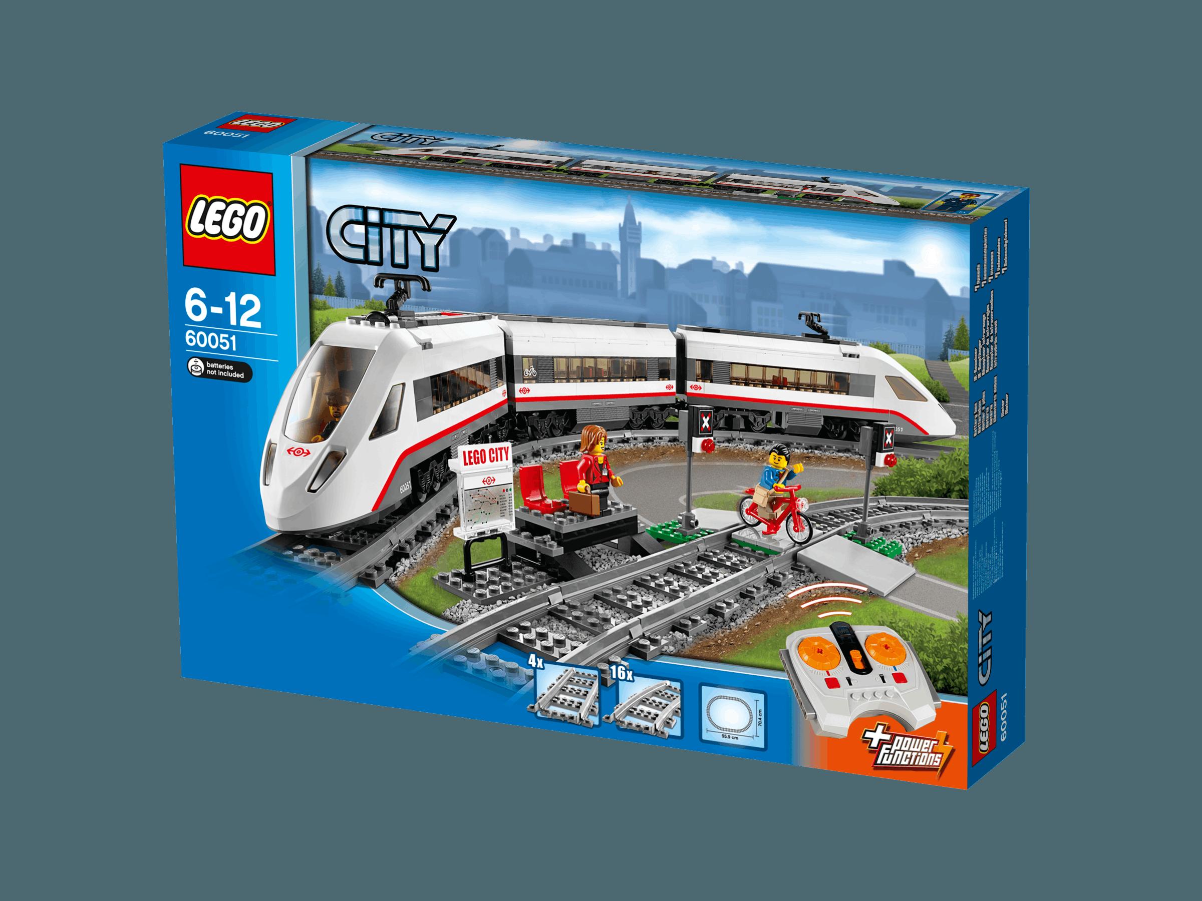 lego city 60051 train de passagers grande vitesse tgv achat vente assemblage construction. Black Bedroom Furniture Sets. Home Design Ideas