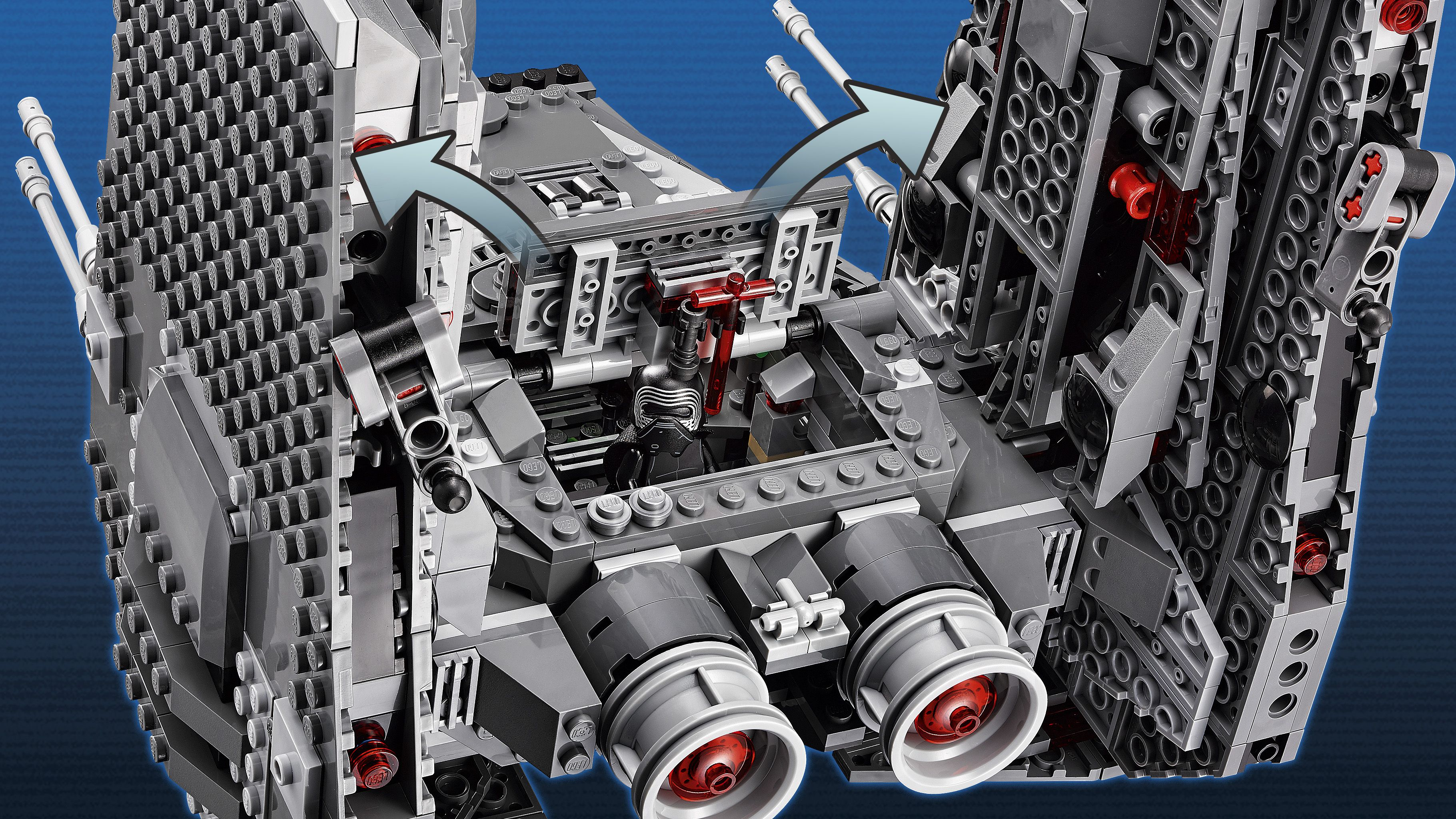 Lego star wars 75104 le vaisseau de kylo ren command for Interieur vaisseau star wars