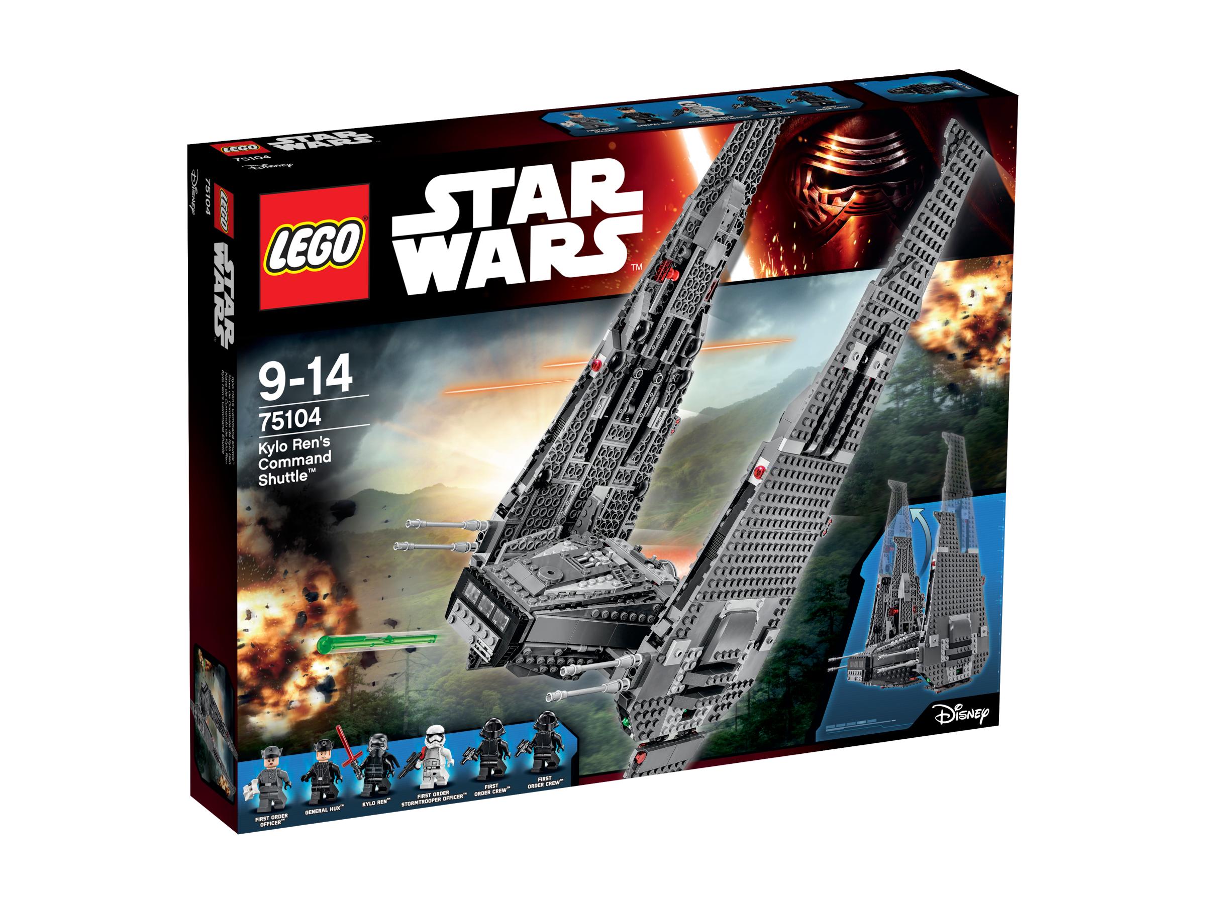 lego star wars 75104 le vaisseau de kylo ren command. Black Bedroom Furniture Sets. Home Design Ideas