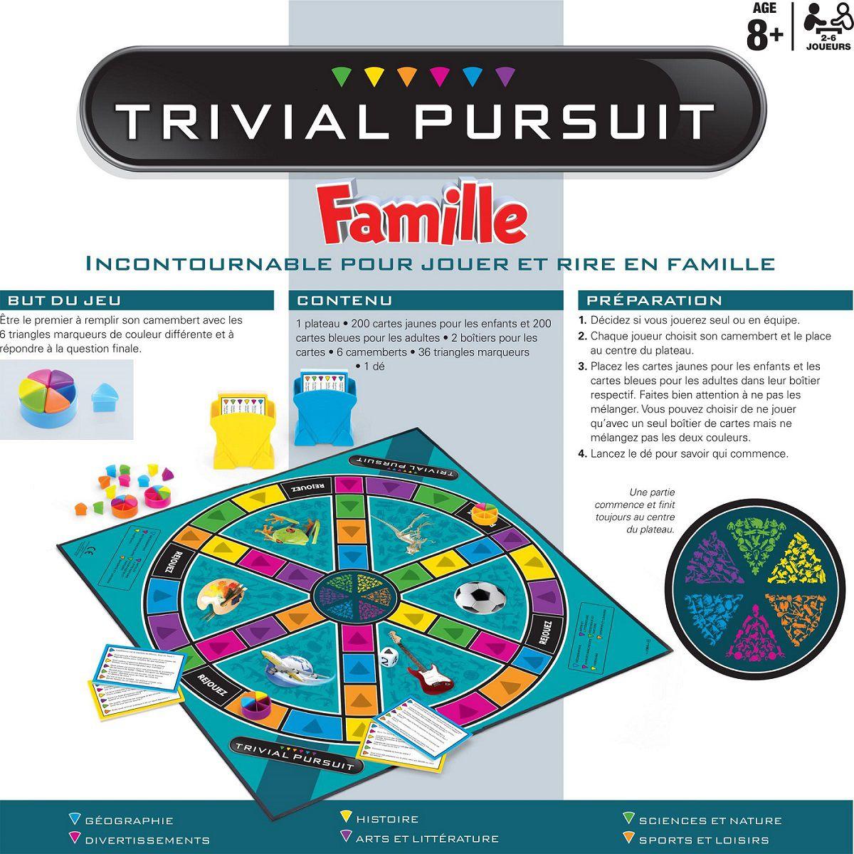 trivial pursuit famille 5010994893736 achat vente jeu. Black Bedroom Furniture Sets. Home Design Ideas
