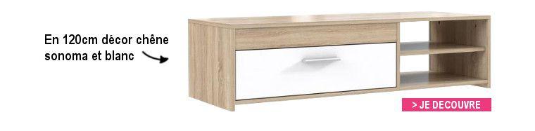 Finlandek meuble tv katso 120cm d cor ch ne cendr et for Meuble tv finlandek
