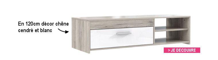 Finlandek meuble tv katso 160cm d cor ch ne cendr et for Finlandek meuble tv mural katso 160cm blanc et noir