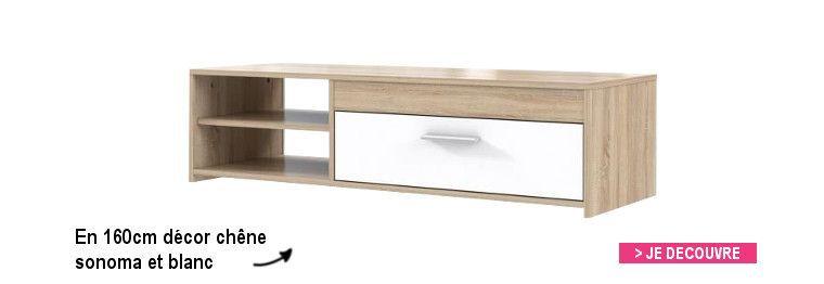 Finlandek meuble tv katso 160cm d cor ch ne cendr et for Nabou meuble tv mural 319x207 cm chene cendre