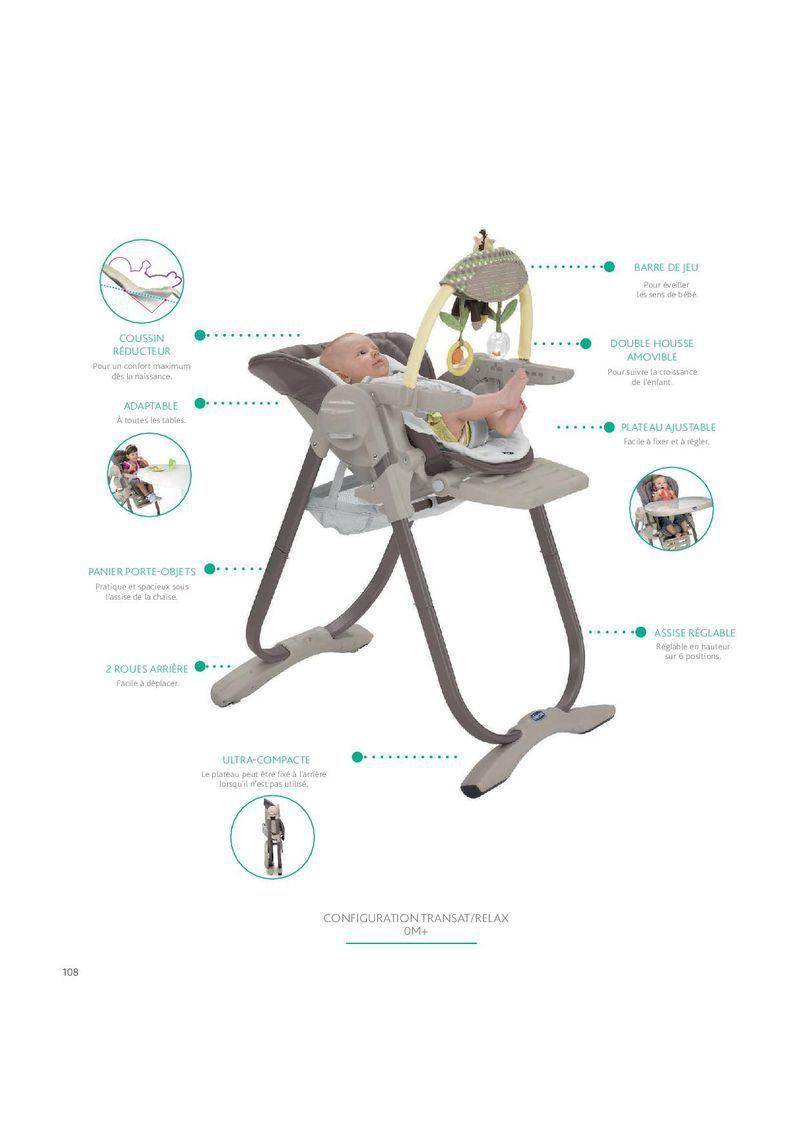 destockage chicco chaise haute evolutive polly magic lilla. Black Bedroom Furniture Sets. Home Design Ideas