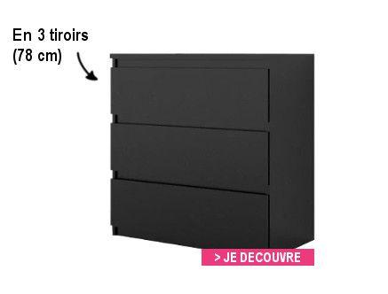 finlandek commode de chambre natti style contemporain noir l 110 cm achat vente commode de. Black Bedroom Furniture Sets. Home Design Ideas