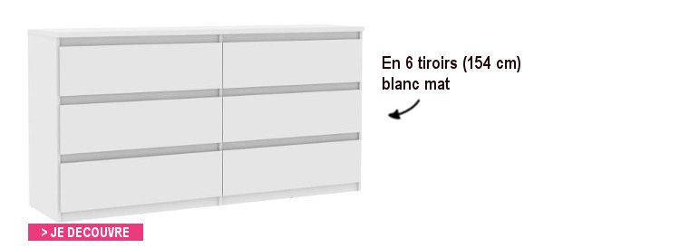 commode blanche 110 cm
