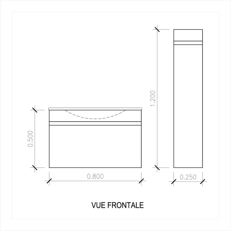 Luna ensemble salle de bain simple vasque l 80 cm gris vernis achat vente salle de bain - Baignoire salle de bain dimensions ...