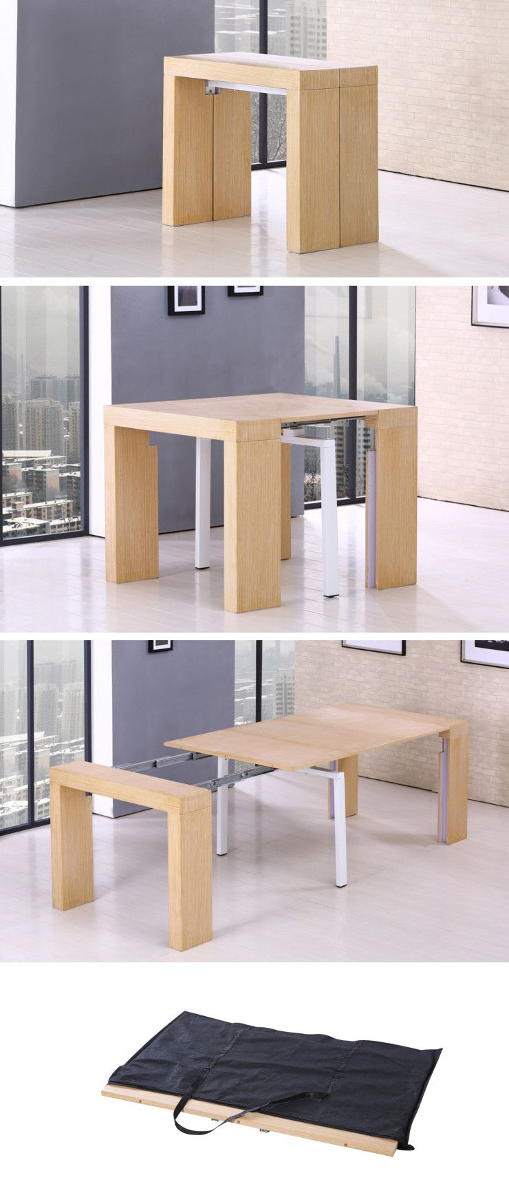 Zack table console extensible de 8 10 personnes style for Table extensible 2 a 8 personnes