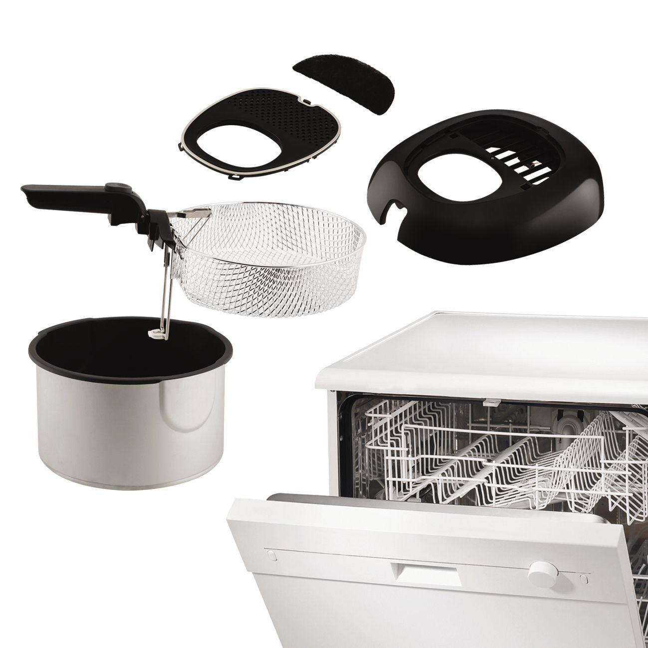 seb friteuse classique smart clean noir inox fr460000 achat vente friteuse electrique. Black Bedroom Furniture Sets. Home Design Ideas
