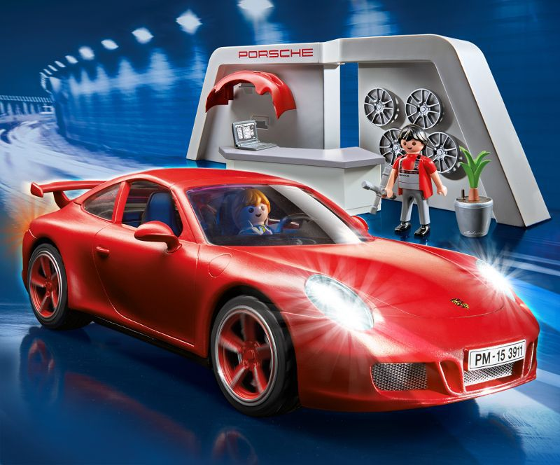 playmobil 3911 atelier avec porsche 911 carrera s achat vente univers miniature cdiscount. Black Bedroom Furniture Sets. Home Design Ideas