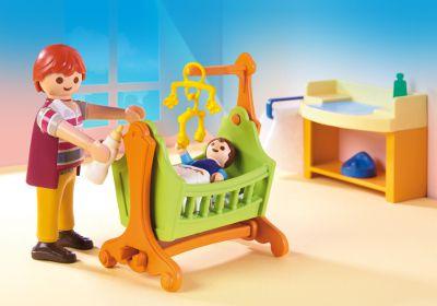 Playmobil 5304 la maison traditionnelle chambre de - Playmobil chambre enfant ...
