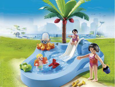 Playmobil 6673 bassin pour b b s et mini toboggan achat for Playmobil piscine toboggan