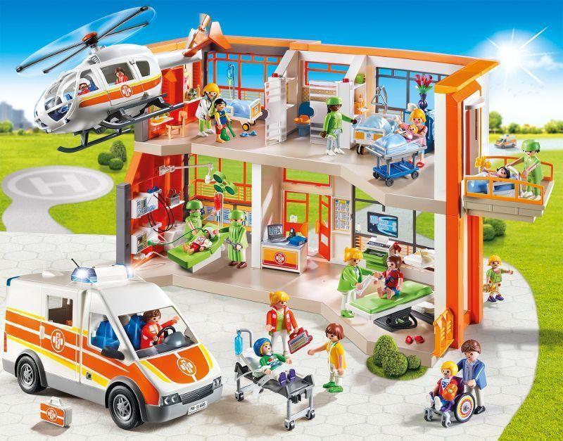 Playmobil 6657 h pital p diatrique am nag achat vente for Pas de chambre 13 hopital