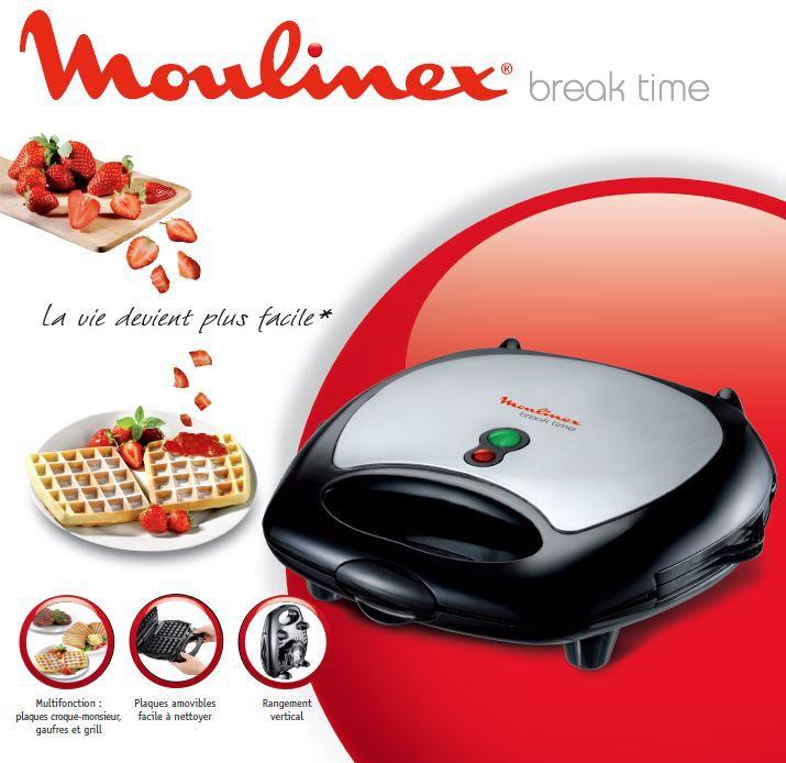 gaufrier moulinex break time sw611812 achat vente gaufrier cdiscount. Black Bedroom Furniture Sets. Home Design Ideas