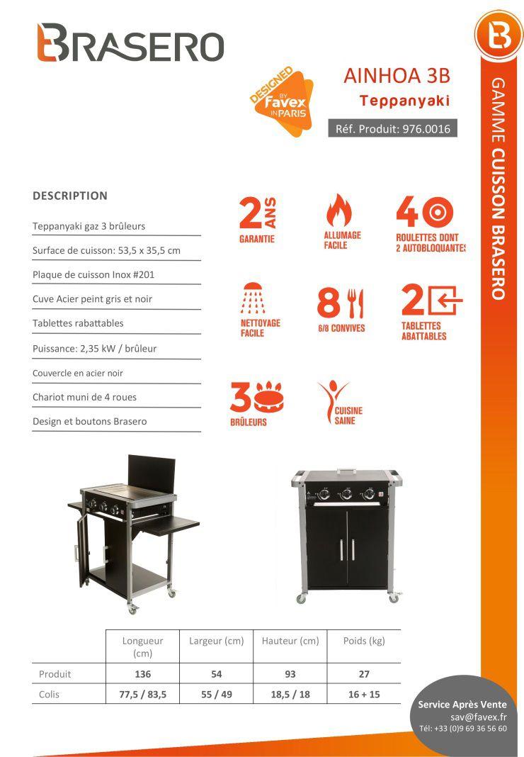 brasero plancha gaz sur chariot 3 feux inox 121x53 5x92 5 cm achat vente plancha. Black Bedroom Furniture Sets. Home Design Ideas