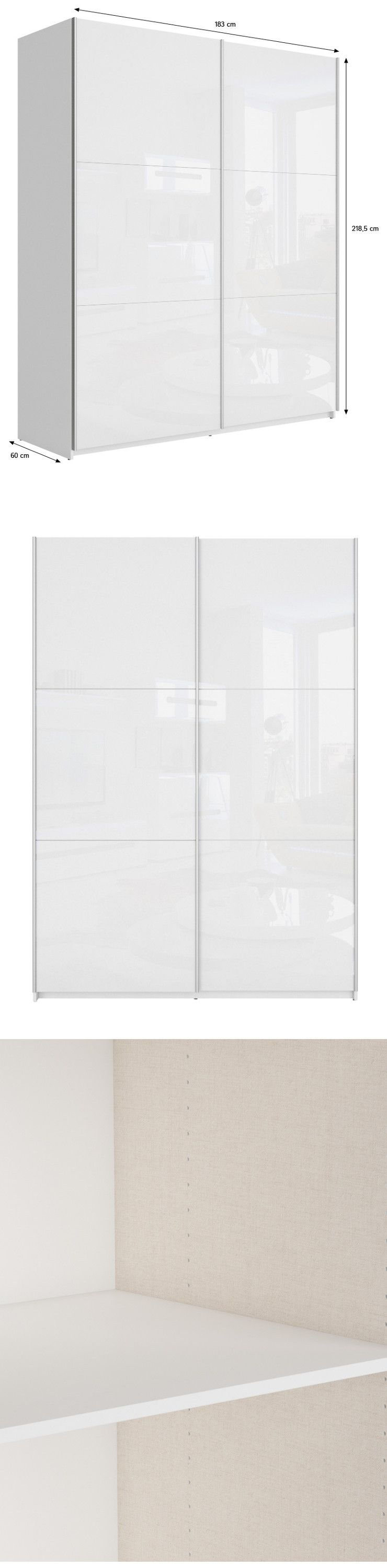 Best armoire chambre adulte style contemporain blanc for Meuble chambre adulte contemporain