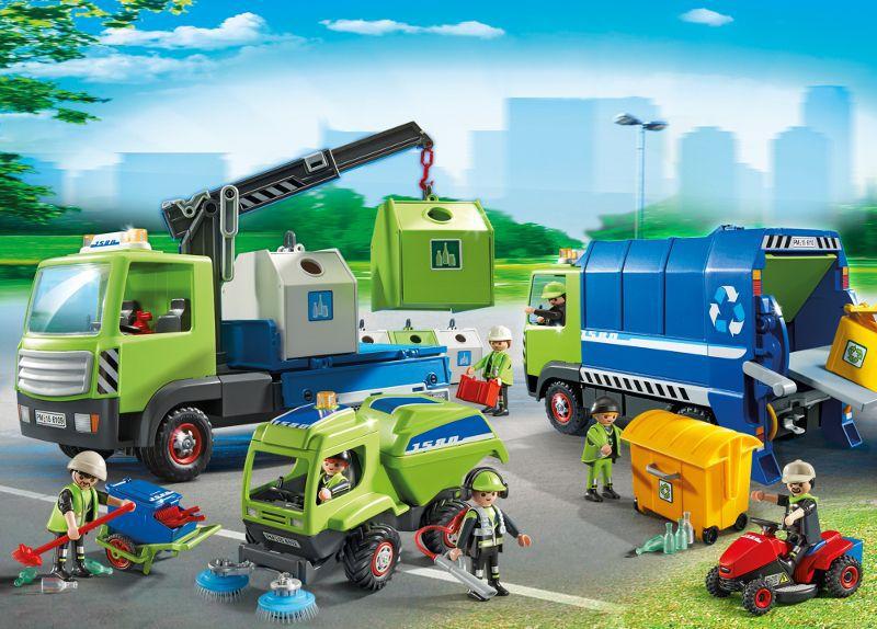 6110 Camion de recyclage ordures Playmobil : King Jouet, Playmobil Playmobil