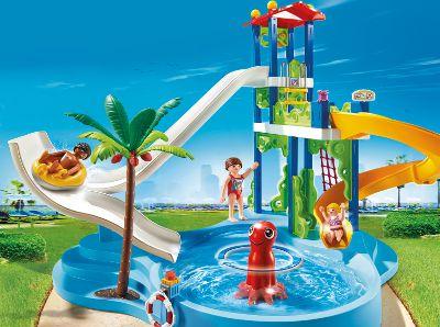 playmobil 6669 parc aquatique avec toboggans g ants. Black Bedroom Furniture Sets. Home Design Ideas