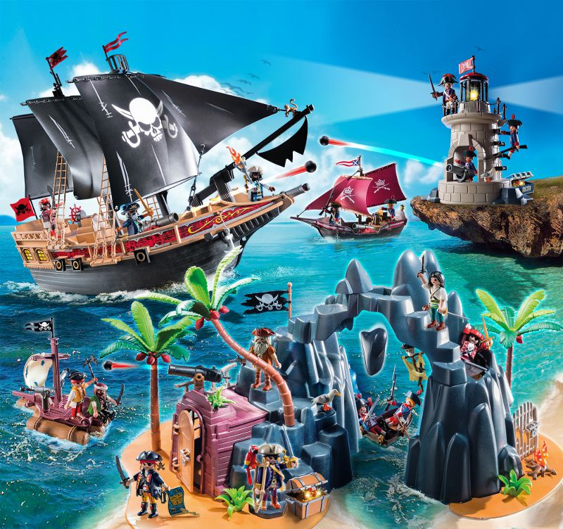 playmobil 6678 bateau pirates des t n bres achat vente univers miniature cdiscount. Black Bedroom Furniture Sets. Home Design Ideas