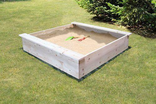soulet bac sable en bois b che de protection achat vente bac sable cdiscount. Black Bedroom Furniture Sets. Home Design Ideas
