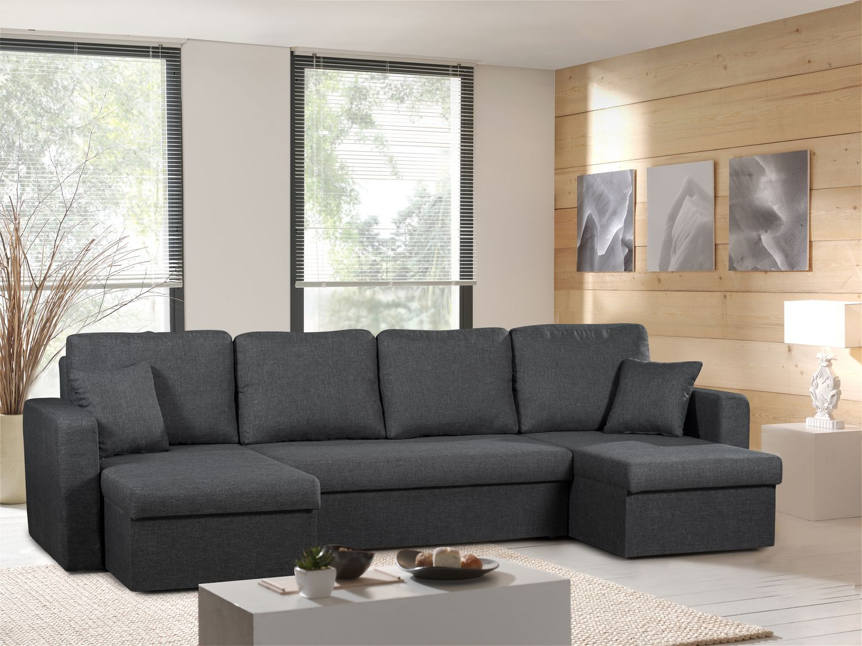 Canap panoramique convertible gris anthracite venus sofa for Divan gris