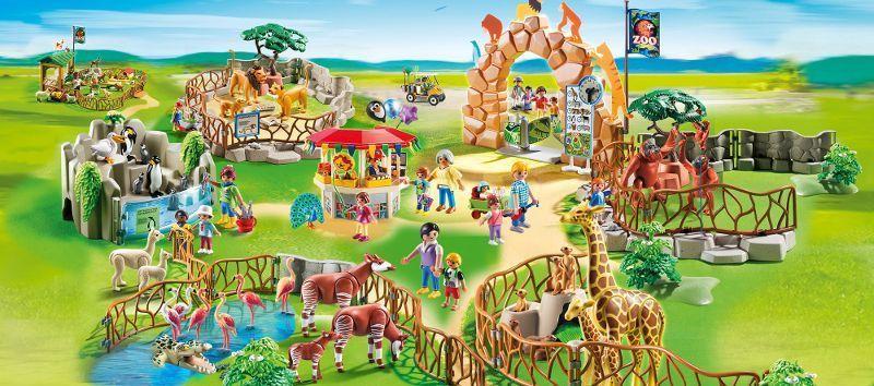 playmobil 6635 parc animalier avec visiteurs achat. Black Bedroom Furniture Sets. Home Design Ideas