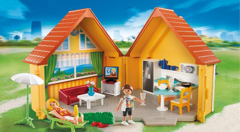 playmobil 6020 maison de vacances achat vente univers miniature cdiscount. Black Bedroom Furniture Sets. Home Design Ideas