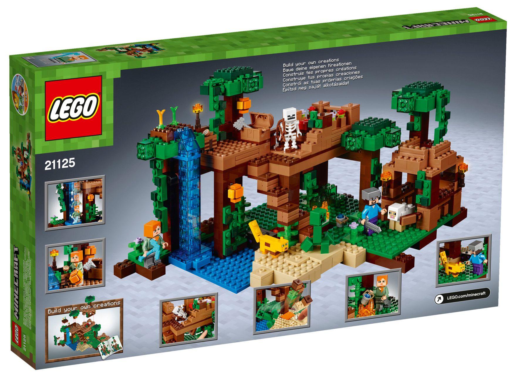 lego minecraft 21125 la cabane dans l 39 arbre de la jungle achat vente assemblage. Black Bedroom Furniture Sets. Home Design Ideas