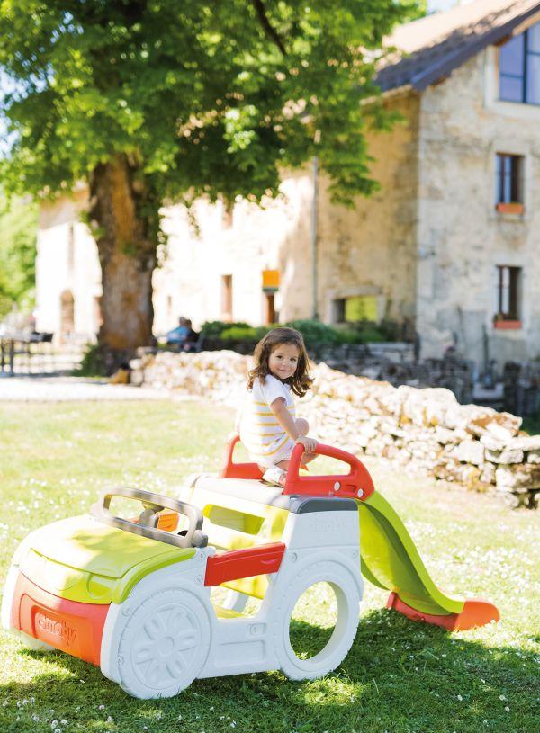 Smoby Aire De Jeux Adventure Car Avec Toboggan Et Bac Sable Achat Vente Station De Jeux