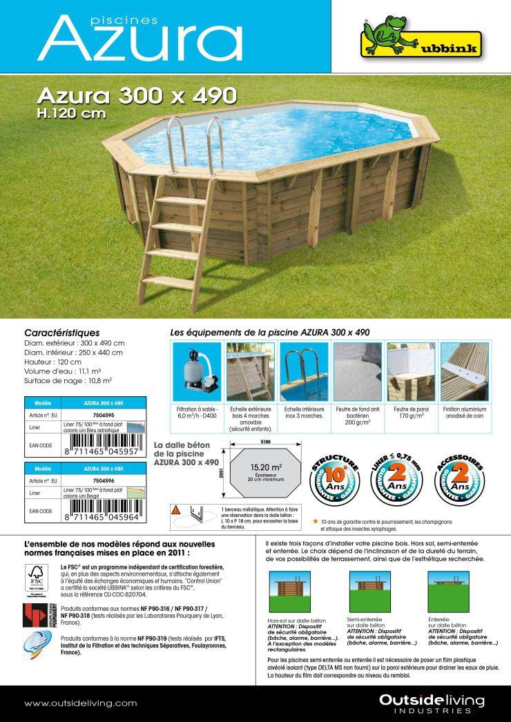 ubbink piscine ovale en bois maldives 490x300x120cm liner sable achat vente piscine. Black Bedroom Furniture Sets. Home Design Ideas