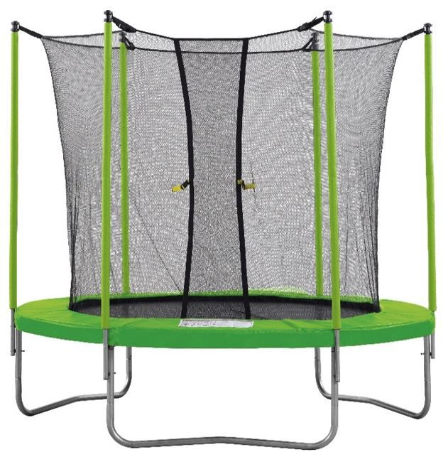 trampoline 250cm vert avec filet 3760165461241 achat vente trampoline cdiscount. Black Bedroom Furniture Sets. Home Design Ideas