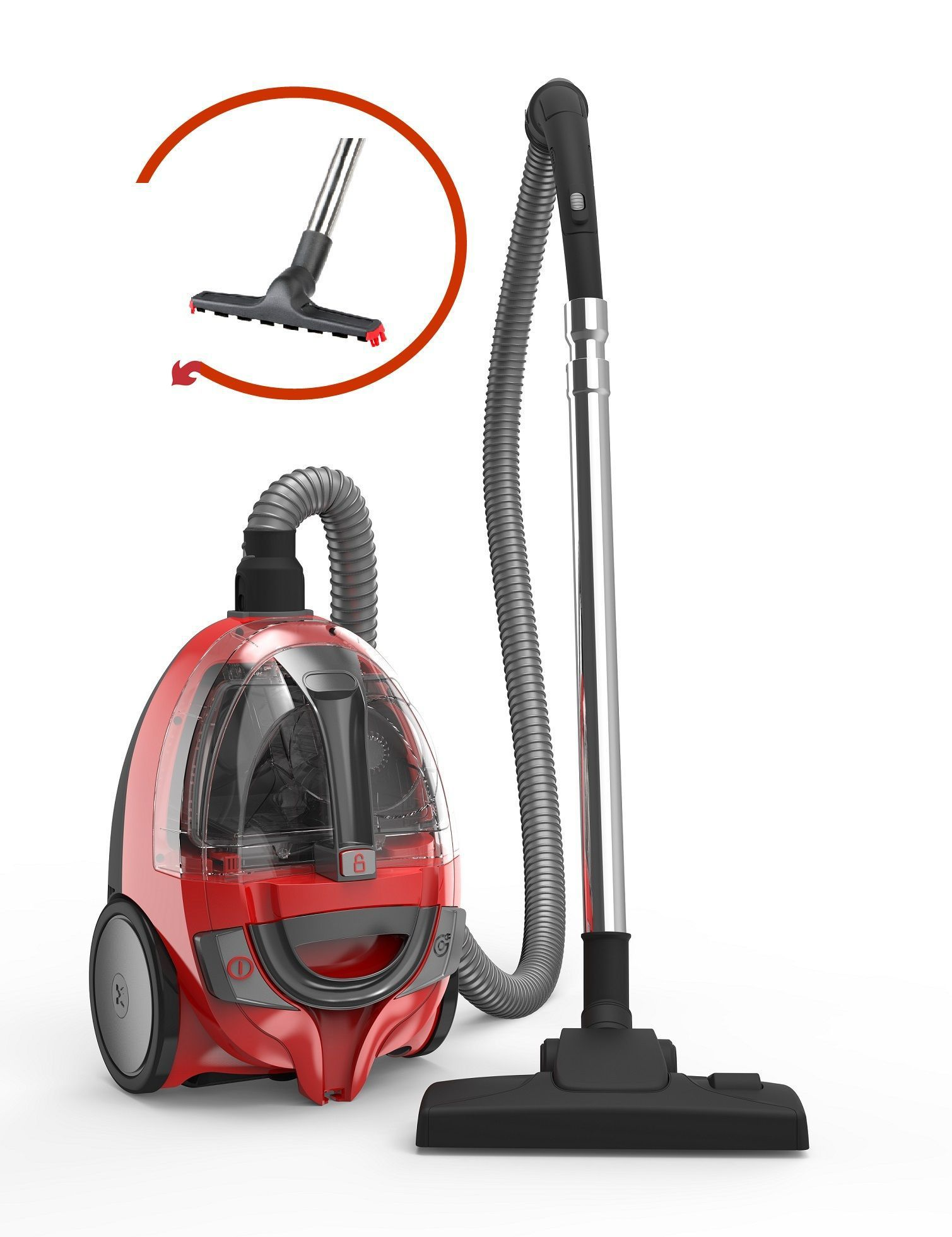dirt devil dd2630 1 aspirateur tra neau sans sac bibox 800w 80 db a rouge achat. Black Bedroom Furniture Sets. Home Design Ideas