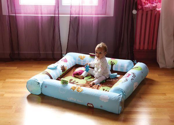 ludi aire d 39 veil volutive chouette arche bleu achat vente tapis veil aire b b. Black Bedroom Furniture Sets. Home Design Ideas