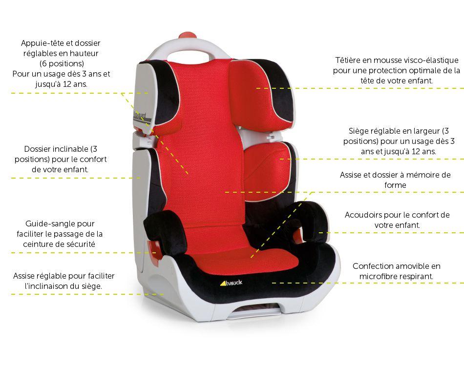 hauck r hausseur bodyguard black red groupe 2 3 achat vente si ge auto r hausseur hauck. Black Bedroom Furniture Sets. Home Design Ideas