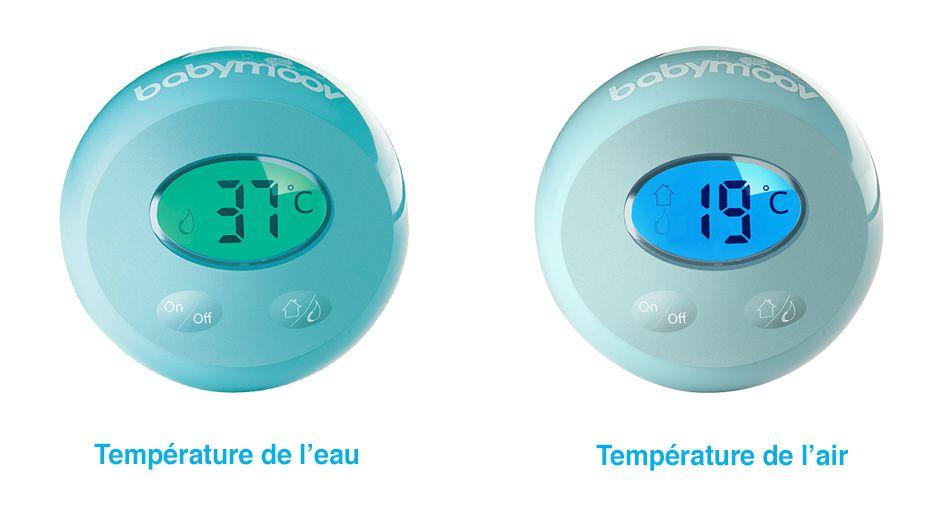 Babymoov thermom tre de bain thermolight contr le de la for Thermometre de chambre bebe