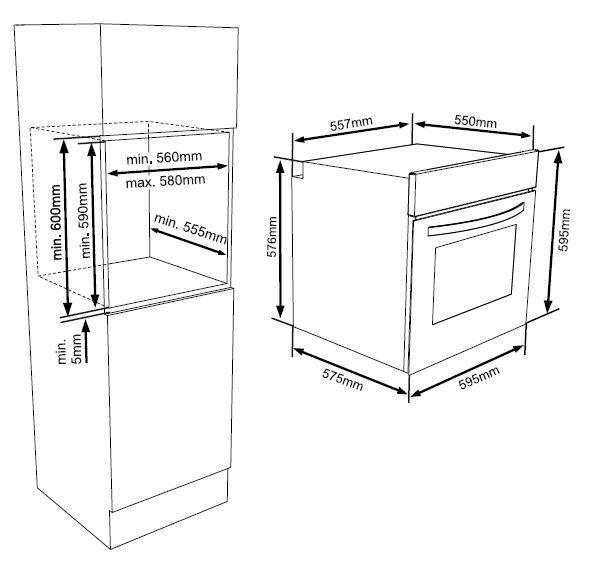 oceanic fmc8m four lectrique encastrabl multifonction air brass 56l catalyse a miroir. Black Bedroom Furniture Sets. Home Design Ideas