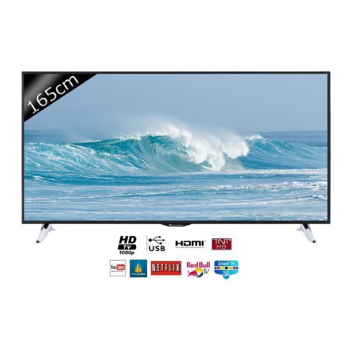 continental edison 65s0116b3 smart tv led hd 165cm 55 t l viseur led avis et prix pas. Black Bedroom Furniture Sets. Home Design Ideas