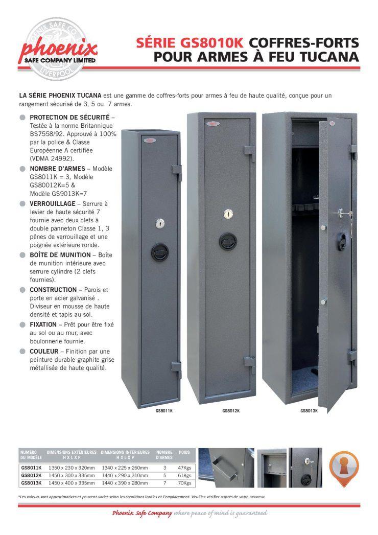 phoenix safe armoire 3 fusils tucana gs8011k serrure cl achat vente armoire fusil. Black Bedroom Furniture Sets. Home Design Ideas